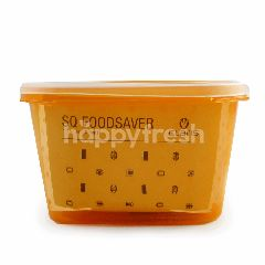 Claris SQ Wadah Makan Warna Oranye 1.25 Liter (5 cup)