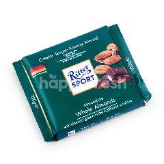 Ritter Sport Cokelat Susu dengan Almond Utuh