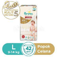 Pampers Perlindungan Premium Bayi Aktif Popok Celana Ukuran L 9-14kg