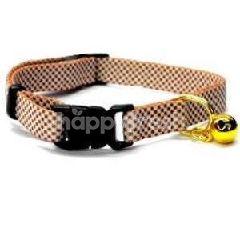 Trustie Elastic Cat Collar-Check (Brown)