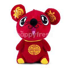 Boneka Tikus Warna Merah