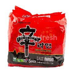 นงชิม ชิน บะหมี่กึ่งสำเร็จรูป รสเผ็ด แพ็ค