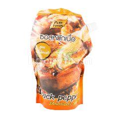เพียวฟู้ดส์ ซอสหมักเนื้อ สูตรพริกไทยดำ