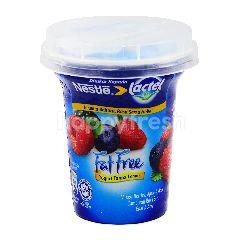 Lactel Mixed Berries, Apple & Acai Fat Free Yogurt