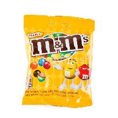 เอ็มแอนด์เอ็ม ช็อกโกแลตนมไส้ถั่วลิสงเคลือบน้ำตาลสีต่างๆ 100 กรัม