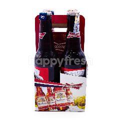 Budweiser Lager Beer (4 Bottles)