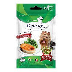 เดลิซิโอ สติ๊กปลาแซลมอน และผัก