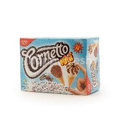 Wall's Frozen Mini Cookies, Cream And Black Forest Ice Cream (12 Cone)