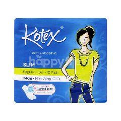 Kotex Soft & Smooth Slim 24cm Non Wing