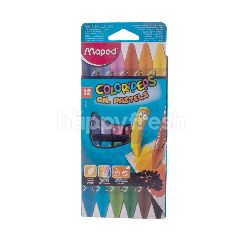 Maped 12 Color'Peps Oil Pastel