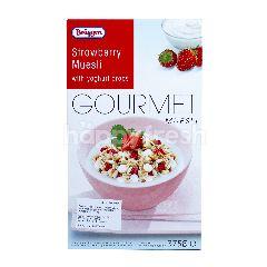 Briiggen Muesli Stroberi-Vanila degan Tetesan Yogurt