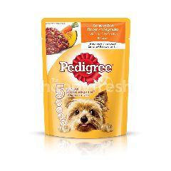 Pedigree Pouch Dog Food Adult Smmered Beef Loaf with Vegetable 80g Dog Wet Food