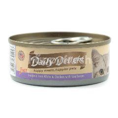 Daily Delight Makanan Kucing Pure Ikan Cakalang dan Ayam dengan Ikan Kakap
