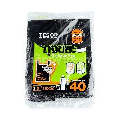 เทสโก้ ถุงขยะ หูหิ้ว 18*20 40 ใบ