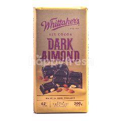 Whittaker's Cokelat Hitam 62% Kakao dengan Almond