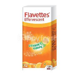 Flavettes Vitamin C Effervescent Tablets Orange 30 Tablets