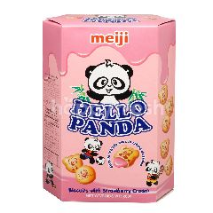 Meiji Hello Panda (Biscuits With Strawberry Flavored Fillings)