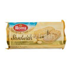 Roma Biskuit Sandwich dengan Krim Kacang