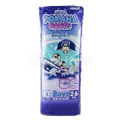 Pokana Popok Celana Bayi Super Boys Tipis & Lembut Ukuran L