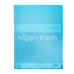 King Jim Clear File Simplease 186TSPWGX A4 Warna Biru Transparan