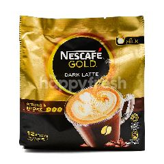 Nescafe Gold Dark Latte Premix Coffee (12 Sticks x 31g)
