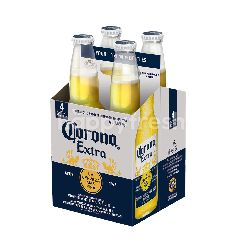 Corona Extra Lager Beer Bottle (355ml x 4)