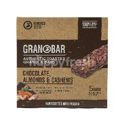 Granobar Sereal Granola Bar Cokelat, Almond, dan Kacang Mede