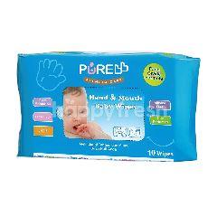 PUREBB Tisu Basah Bayi Tangan & Mulut Lidah Buaya
