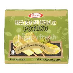 Yum Yum Ice Cream Stick With Green Beans And Durian Flavor (8 Pieces x 60g)