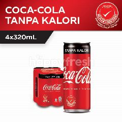 Coca-Cola No Calorie Carbonated Soft Drink 4x320ml