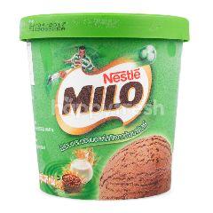 ไมโล ไอศกรีมดัดแปลง รสช็อกโกแลต ส่วนผสมของมอลต์สกัดจากข้าวบาร์เลย์ 375 กรัม