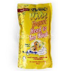 Pureen Kids Yogurt Peach Mango Head To Toe Wash 600Ml