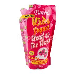 Pureen Kids Yogurt Raspberry Head To Toe Wash 600ml