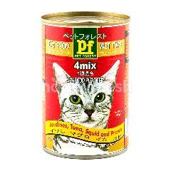 Pet Forest Makanan Kucing Basah Tipe 4 Campuran Seafood Platter