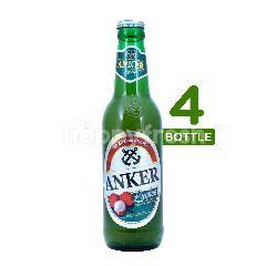 Anker Lychee (Botol) Beer 330ml 4-Pack
