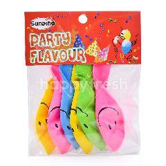 SUNDINO Party Set Smiley Balloons (6 Pieces)
