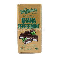 Whittaker's Cokelat Ghana 72% Kakao dengan Peppermint