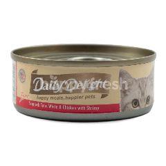 Daily Delight Makanan Kucing Pure Ikan Cakalang dan Ayam dengan Udang