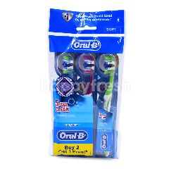 Oral-B 5-Way Clean Soft Toothbrush (3 Pieces)