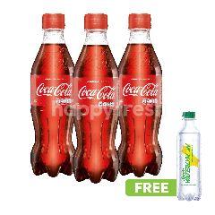 Coca-Cola 390ml Triplepack dan Gratis Sprite Waterlymon 250ml