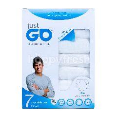 Just Go Celana Dalam Pria Sekali Pakai Warna Putih XL