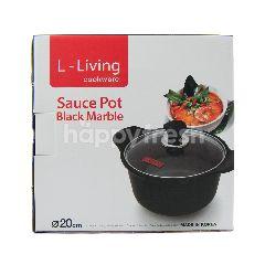 L-Living Panci Saus Marmer Hitam