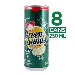 Green Sands Minuman Bersoda Rasa Jeruk Nipis dan Leci 8 kaleng