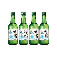 Jinro Chamisul Fresh Soju Liqour (4 x 360ml)