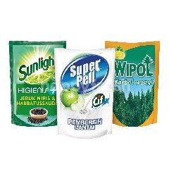 Unilever Sunlight, Super Pell, Wipol Paket Rumah Bersih 3