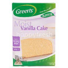 Green's Tepung Keik Vanila Termasuk Tepung Icing Tanpa Pewarna dan Perisa Buatan