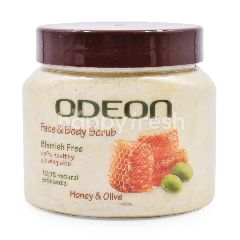Odeon Honey & Olive Face And Body Scrub