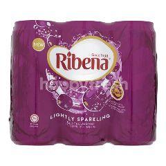 Ribena Blackcurrant Lightly Sparkling Fruit Drink (6Cansx325ML)