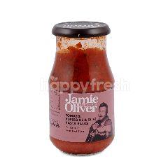 Jamie Oliver Saus Pasta Tomat, Terong dan Zaitun
