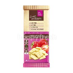 สวีทวิลเลียม สวีท วิลเลี่ยม ช็อกโกแลตแท่ง รสไวท์ช็อก & สตรอเบอร์รี่ สูตรลดน้ำตาล 84% 100 กรัม